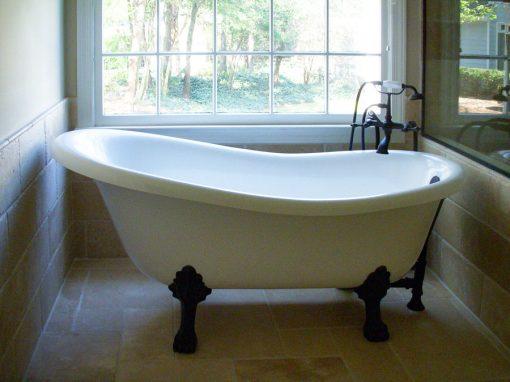 Contemporary Black & White Master Bath