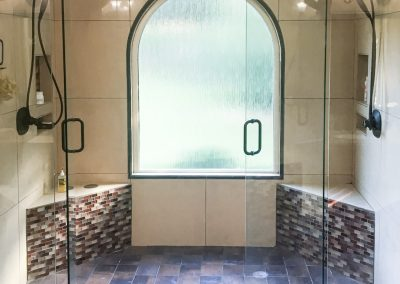 "Mosaic ""Earth-tone"" Inspired Master Bath"
